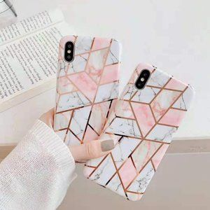 NEW iPhone 11/Pro/Max Geometric Marble Case